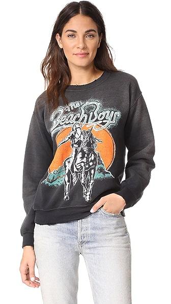 MADEWORN ROCK Beach Boys Sweatshirt In Dirty Black