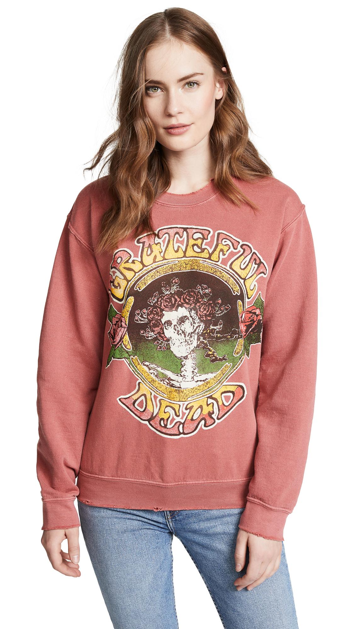 MADE WORN Grateful Dead Sweatshirt in Red