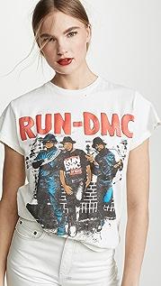 MADEWORN ROCK Run DMC T 恤