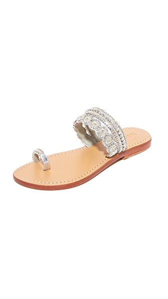 Mystique Silver Toe Ring Sandals - Silver