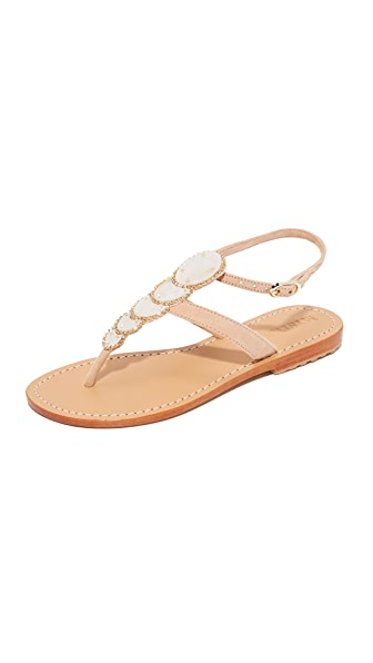 Mystique Mother of Pearl Sandals - Nude