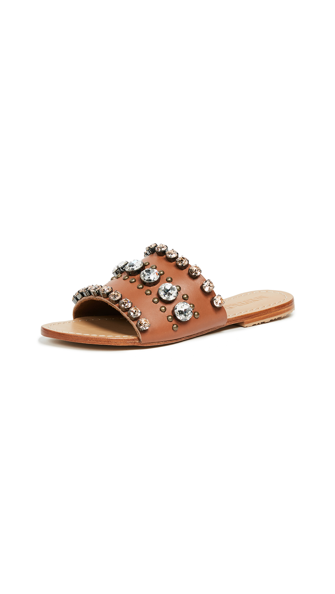 Mystique Jewel Slides - Brandy