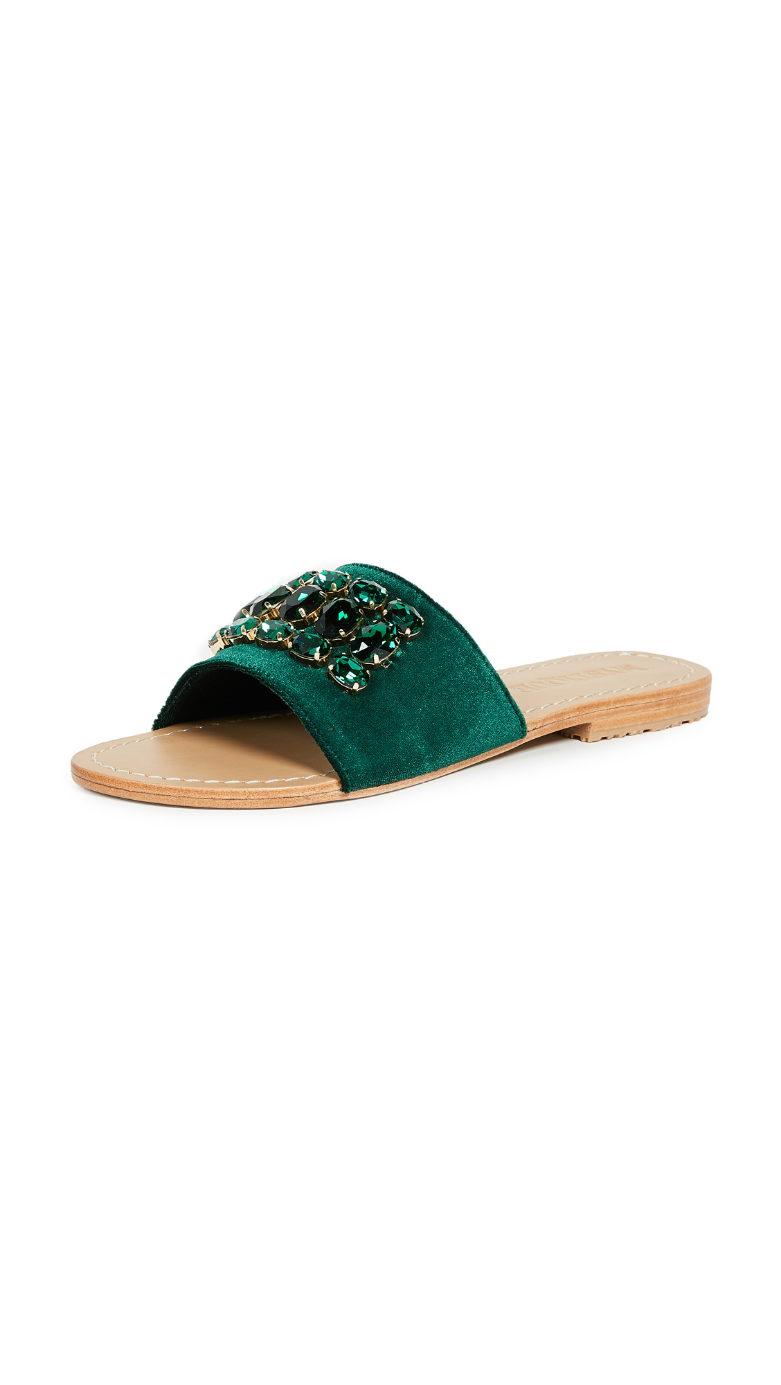 Mystique Jewel Slides - Emerald