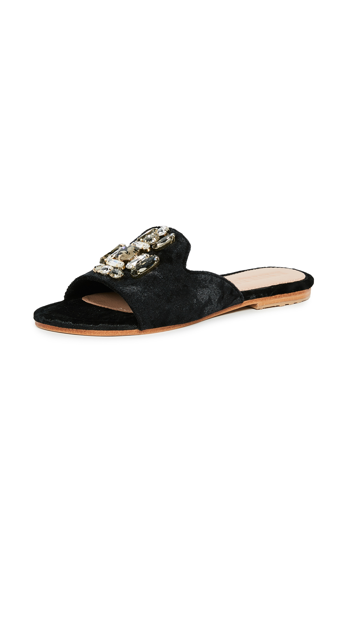 Mystique Jewel Slides - Black