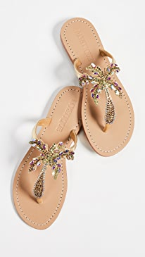 a6848ef0ab4810 Mystique. Jewel Flip Flops