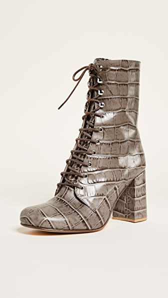 Maryam Nassir Zadeh Emmanuelle Lace Up Booties