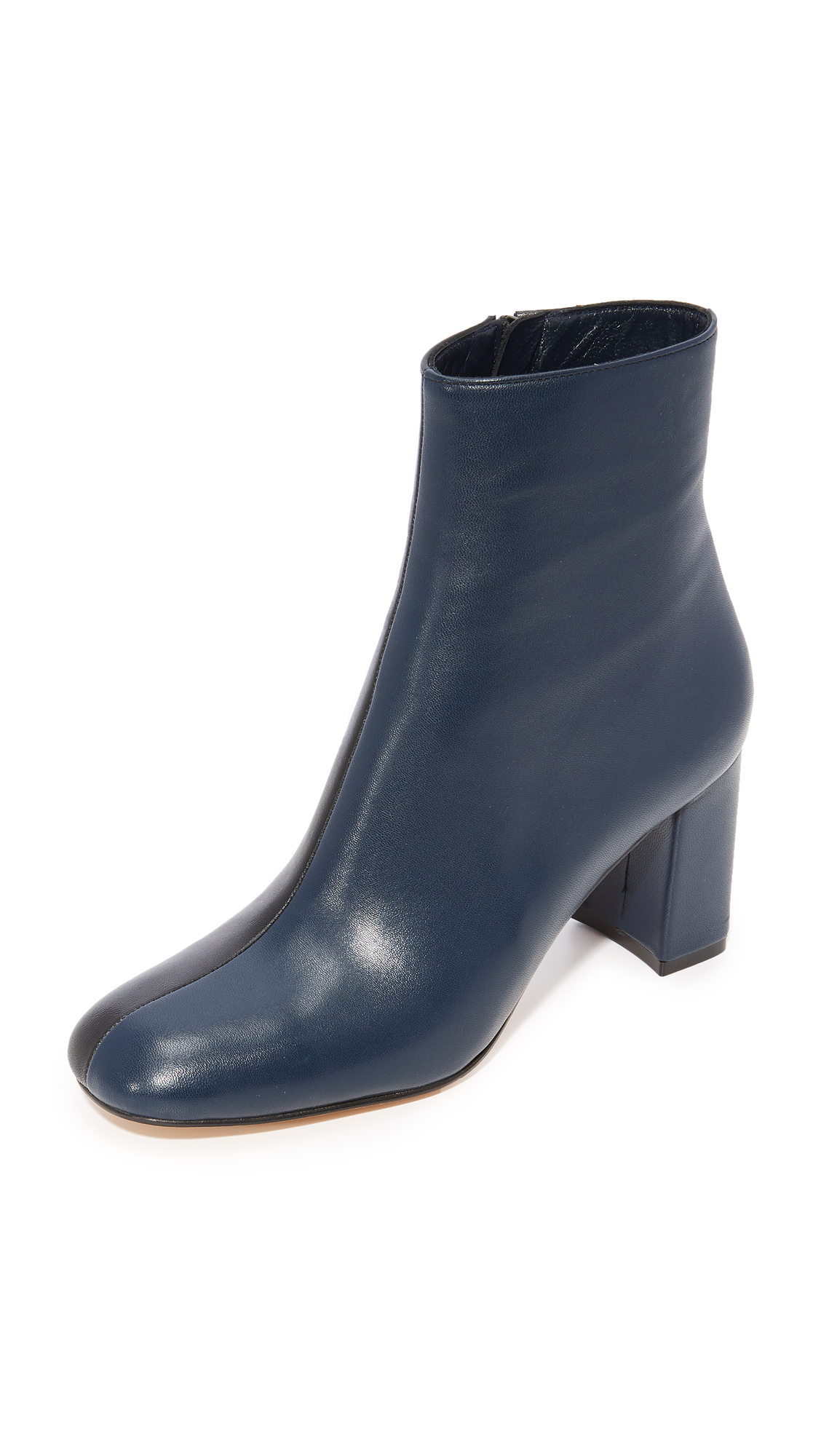 Maryam Nassir Zadeh Agnes Split Booties - Navy/Black