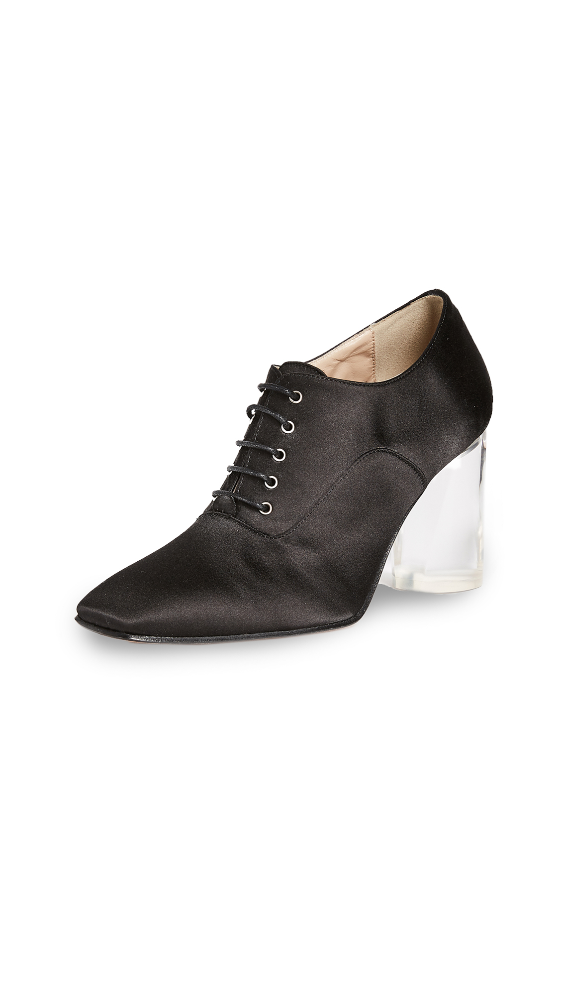 Maryam Nassir Zadeh Paris Lucite Oxford Pumps - Black