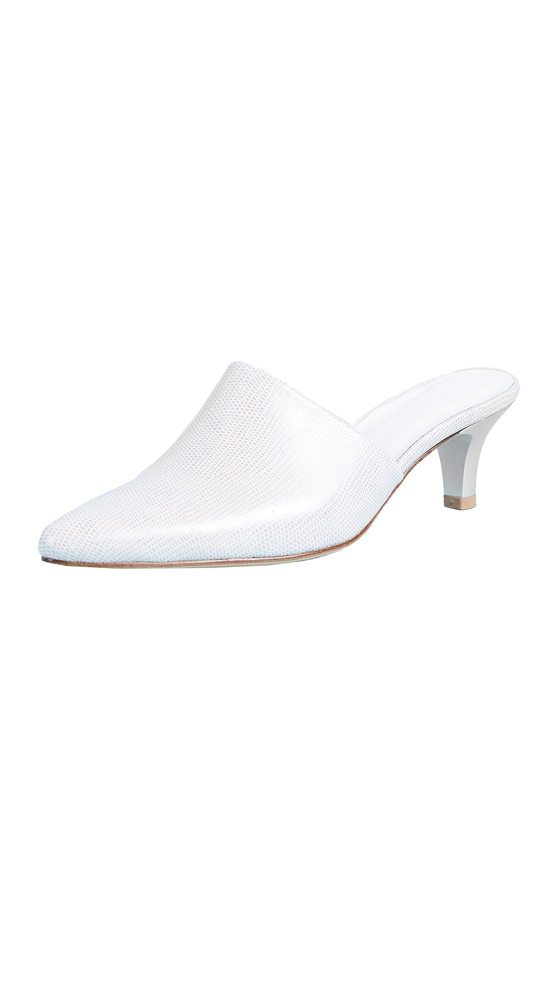 Maryam Nassir Zadeh Andrea Mule Pumps - White