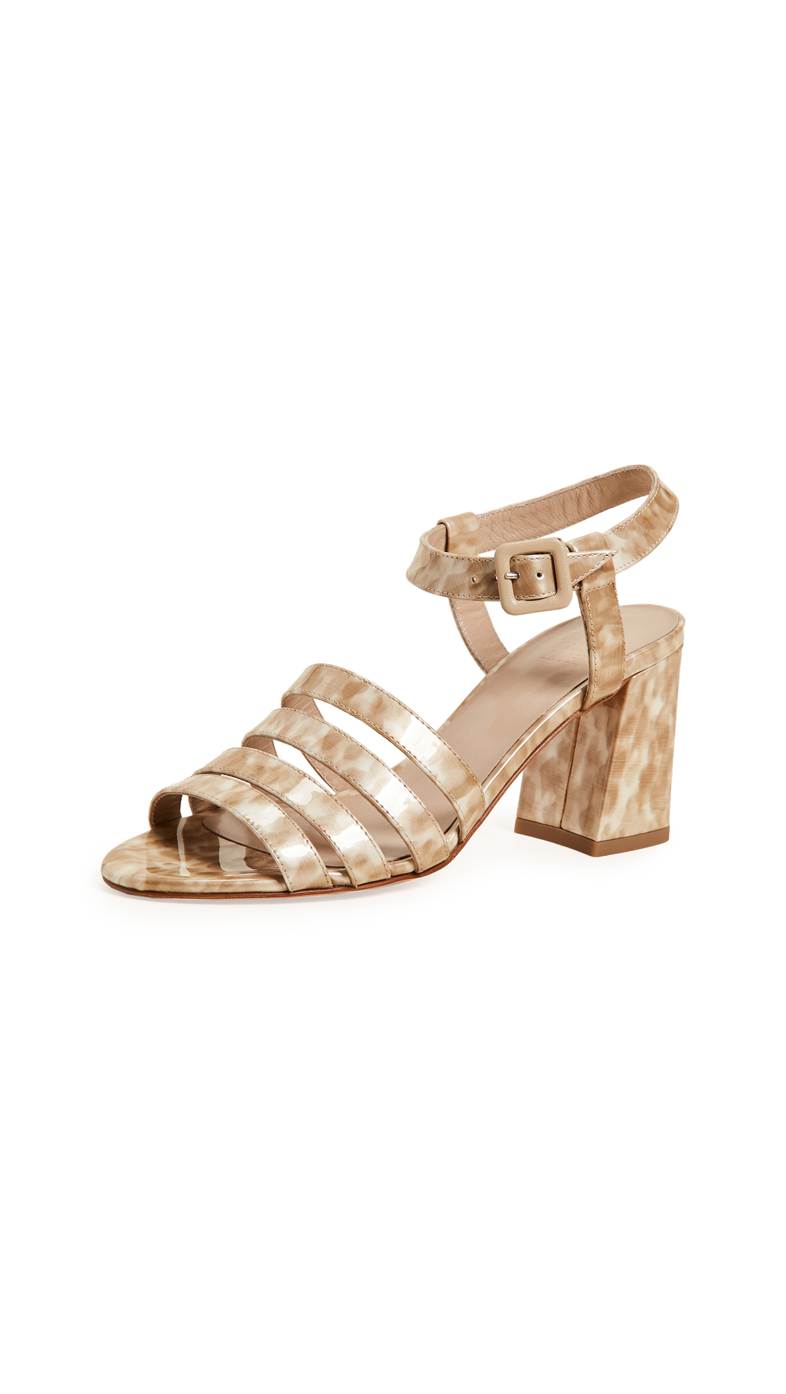 Maryam Nassir Zadeh Palma High Sandals - Blonde Tortoise