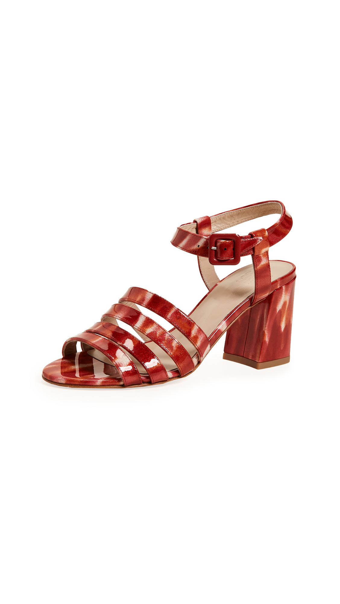 Maryam Nassir Zadeh Palma High Sandals - Ruby Sparkle Tortoise