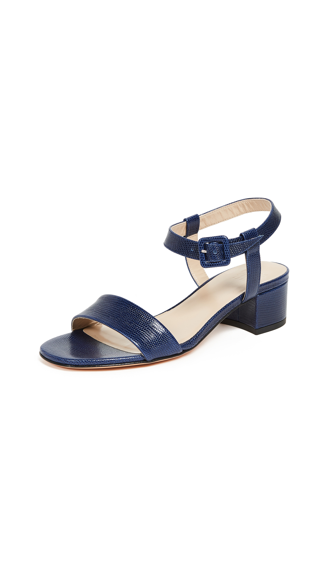 Maryam Nassir Zadeh Sophie Sandals - Navy Faux Lizard