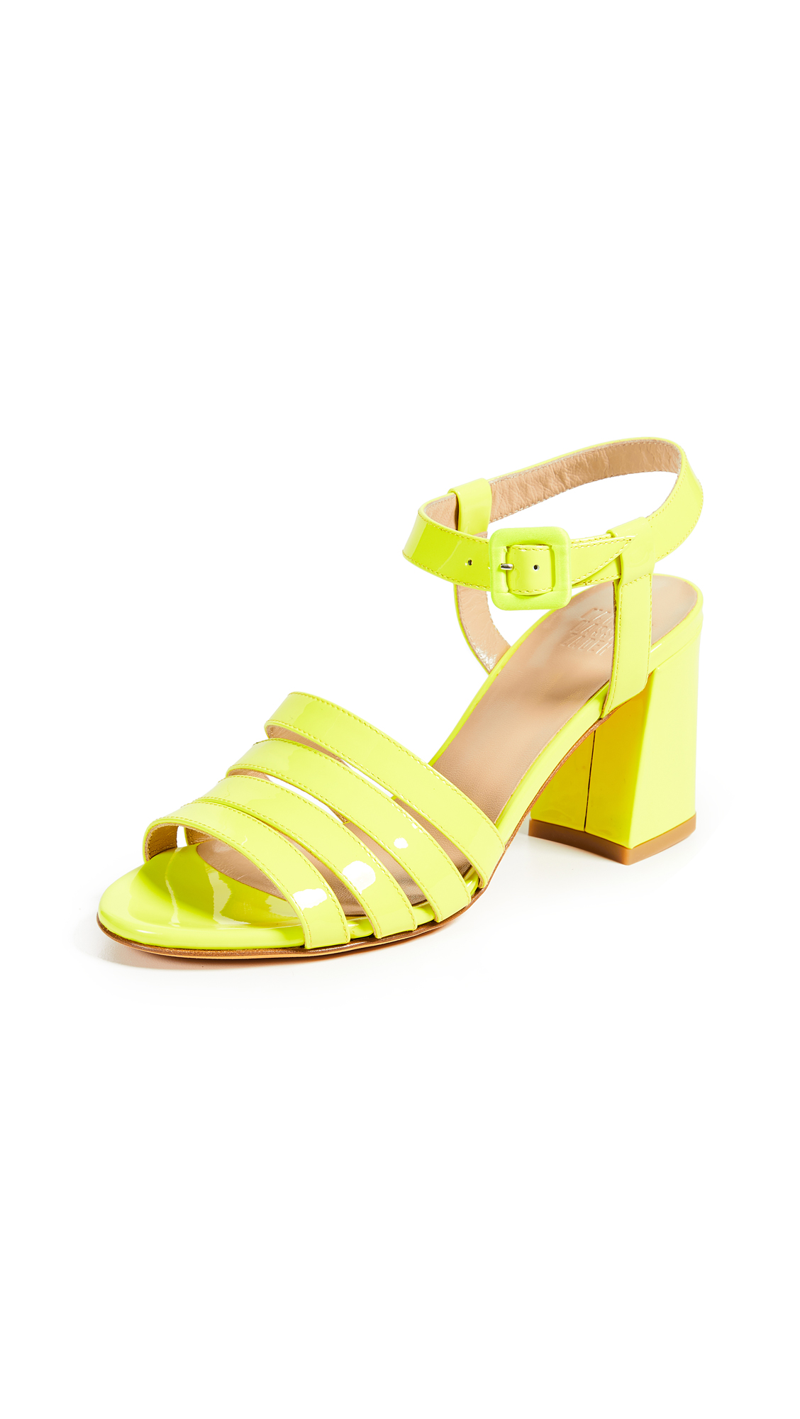 Maryam Nassir Zadeh Palma Sandals - Neon Yellow
