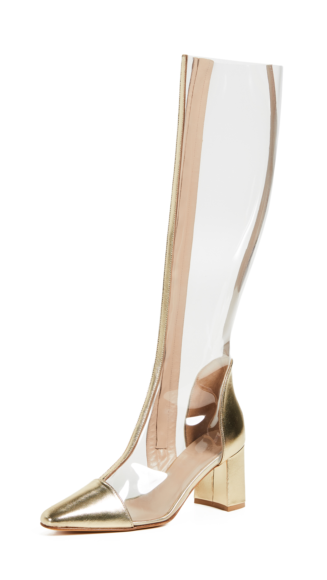 Maryam Nassir Zadeh Jupiter Boots - Clear/Gold
