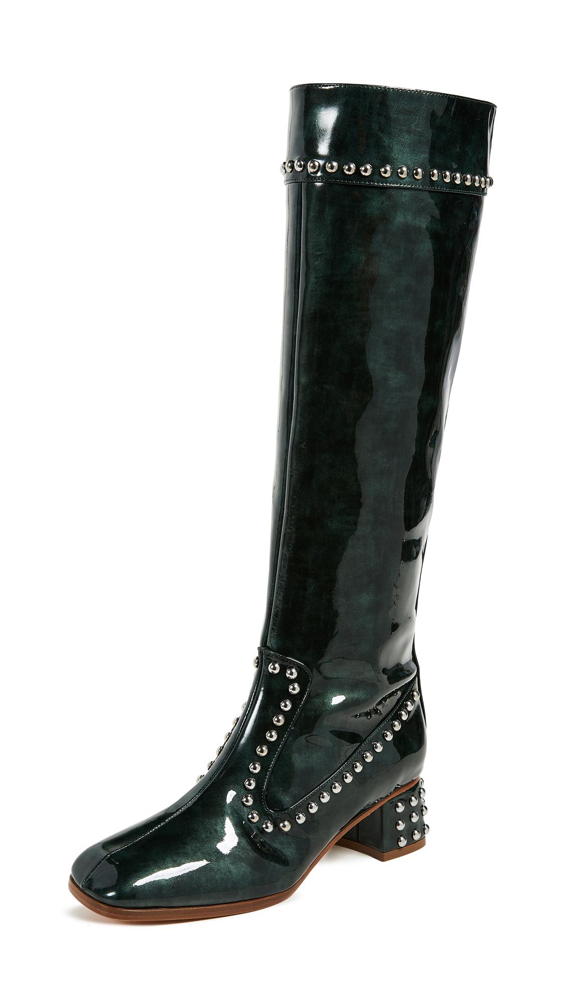 Maryam Nassir Zadeh Kiki Boots - Dark Emerald