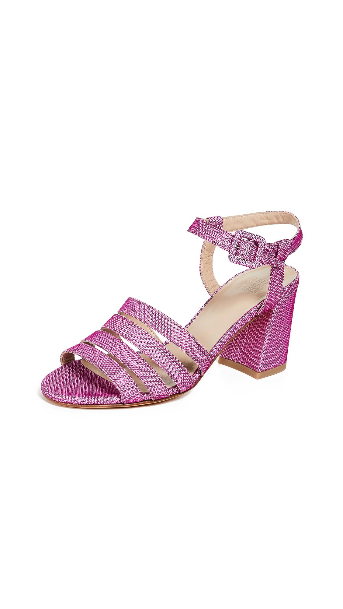 Maryam Nassir Zadeh Palma High Sandals - Fuchsia Sparkle