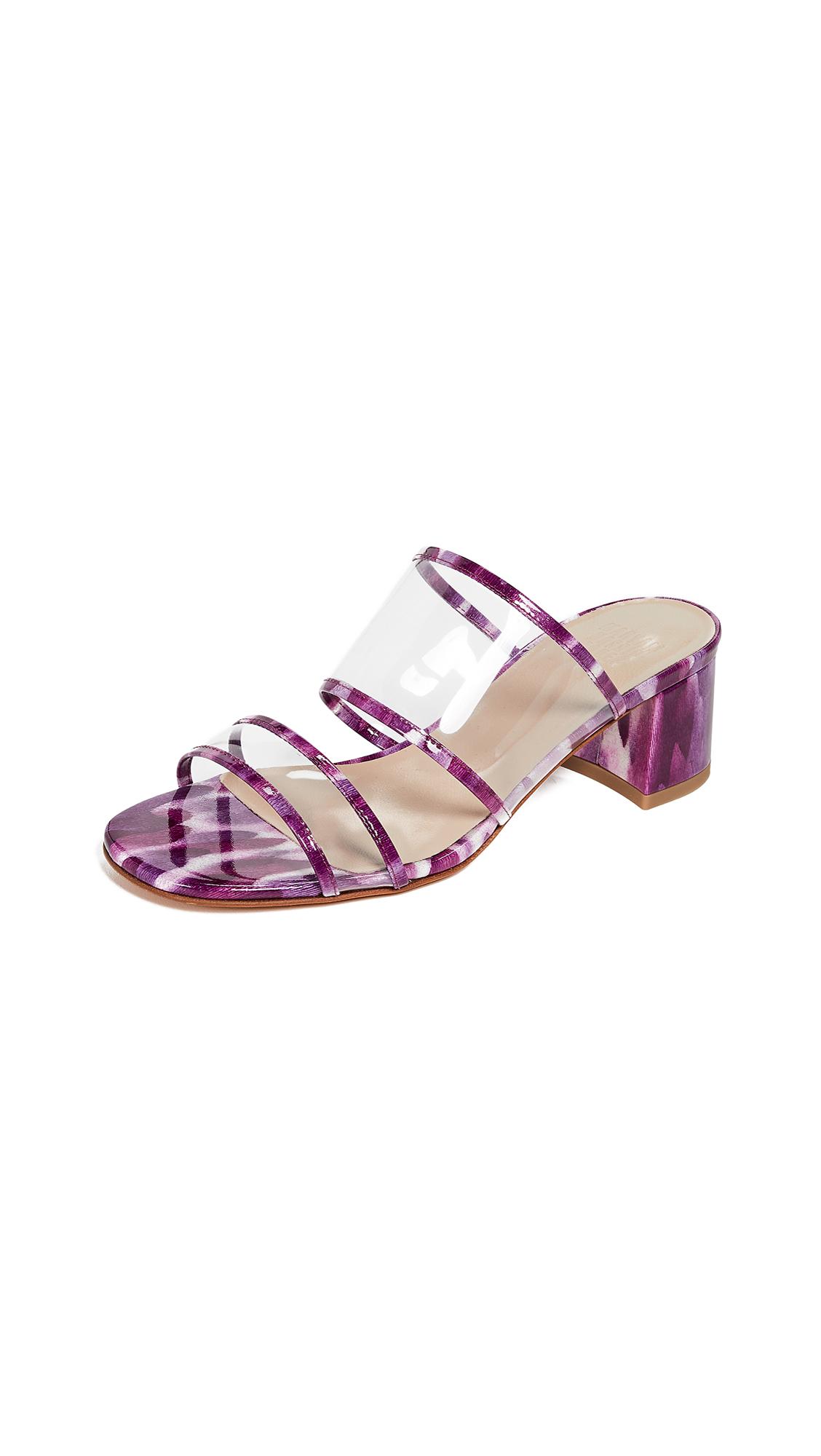 Maryam Nassir Zadeh Martina Plastic Slides - Violet Marble