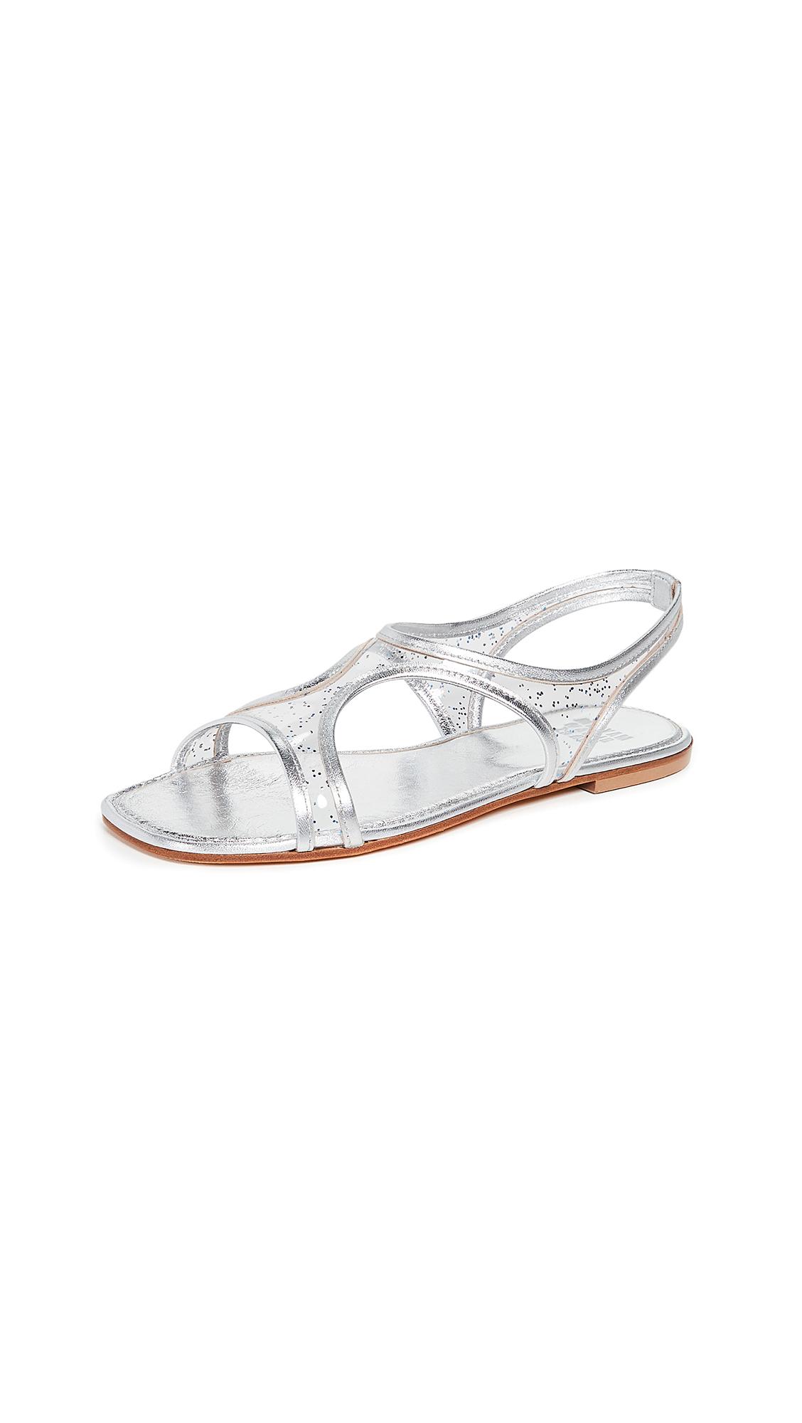Maryam Nassir Zadeh Corazon Sandals - Blue Sparkle