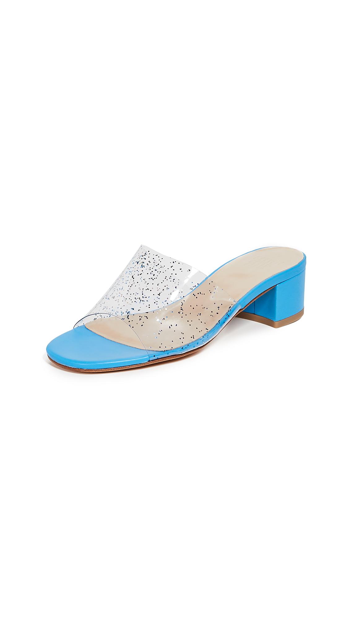 Maryam Nassir Zadeh Sophie Slide Sandals - Blue Sparkle