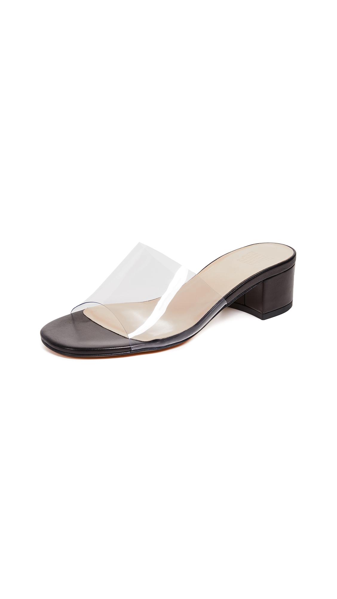 Maryam Nassir Zadeh Sophie Slide Sandals - Black/Clear