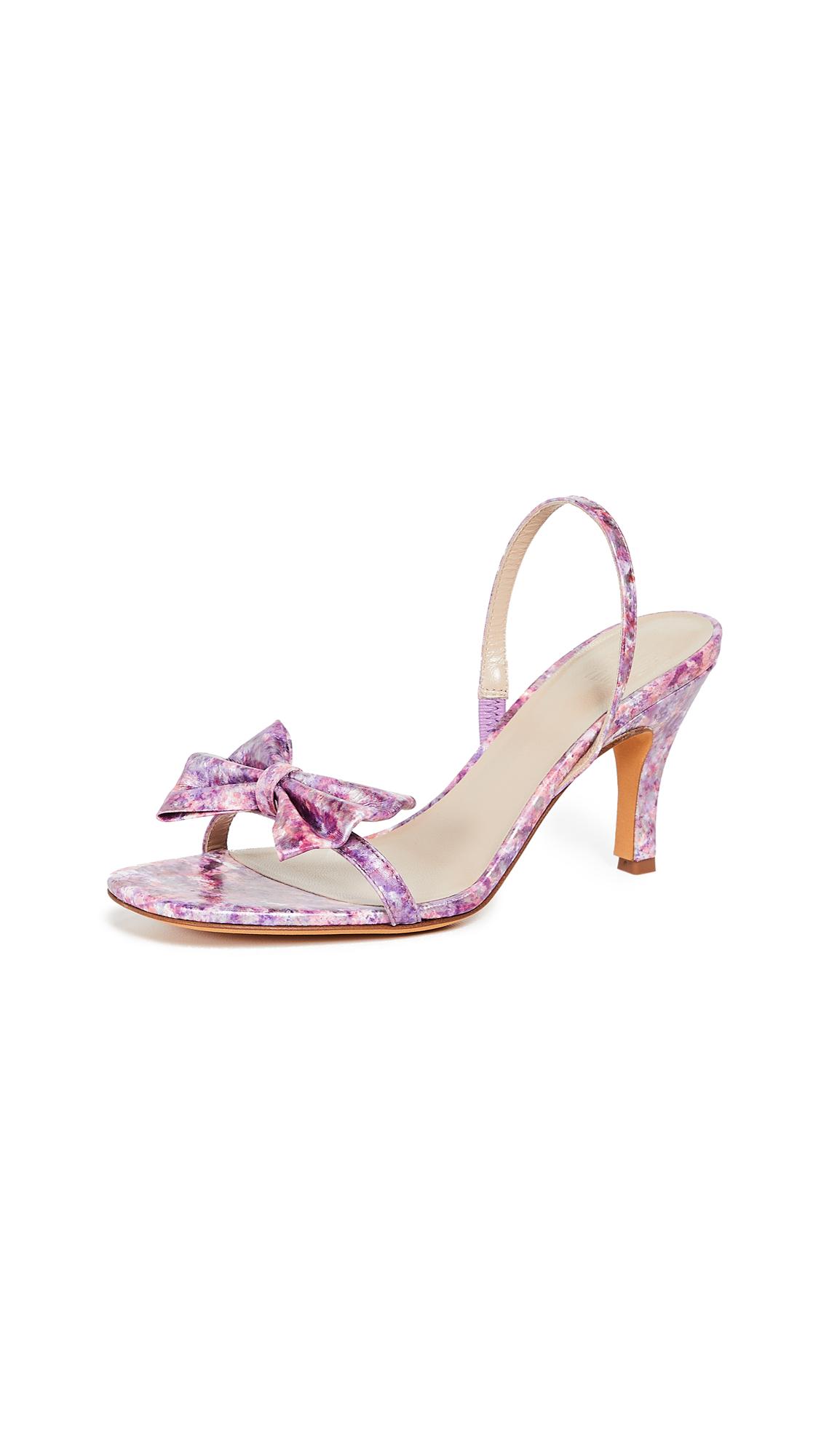 Maryam Nassir Zadeh Flora Slingback Sandals - Violet Marble