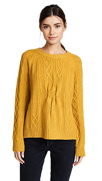 Naadam Cable Knit Cashmere Pullover