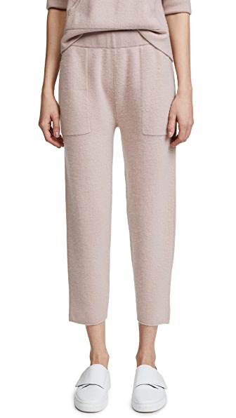 Naadam Cropped Cashmere Lounge Pants In Shell