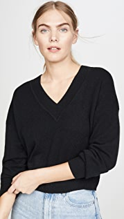 Naadam Deep V Crop Cashmere Sweater