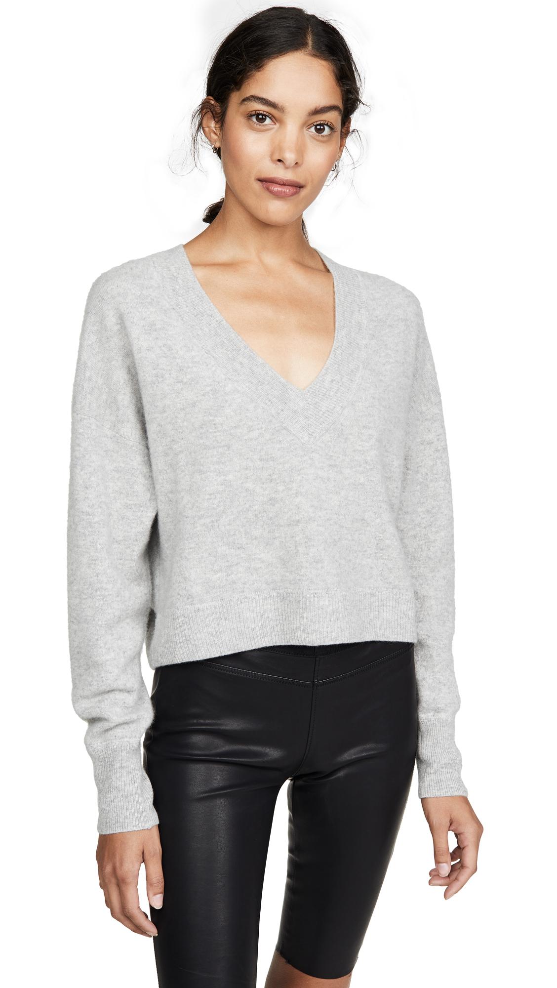Buy Naadam online - photo of Naadam Deep V Crop Cashmere Sweater