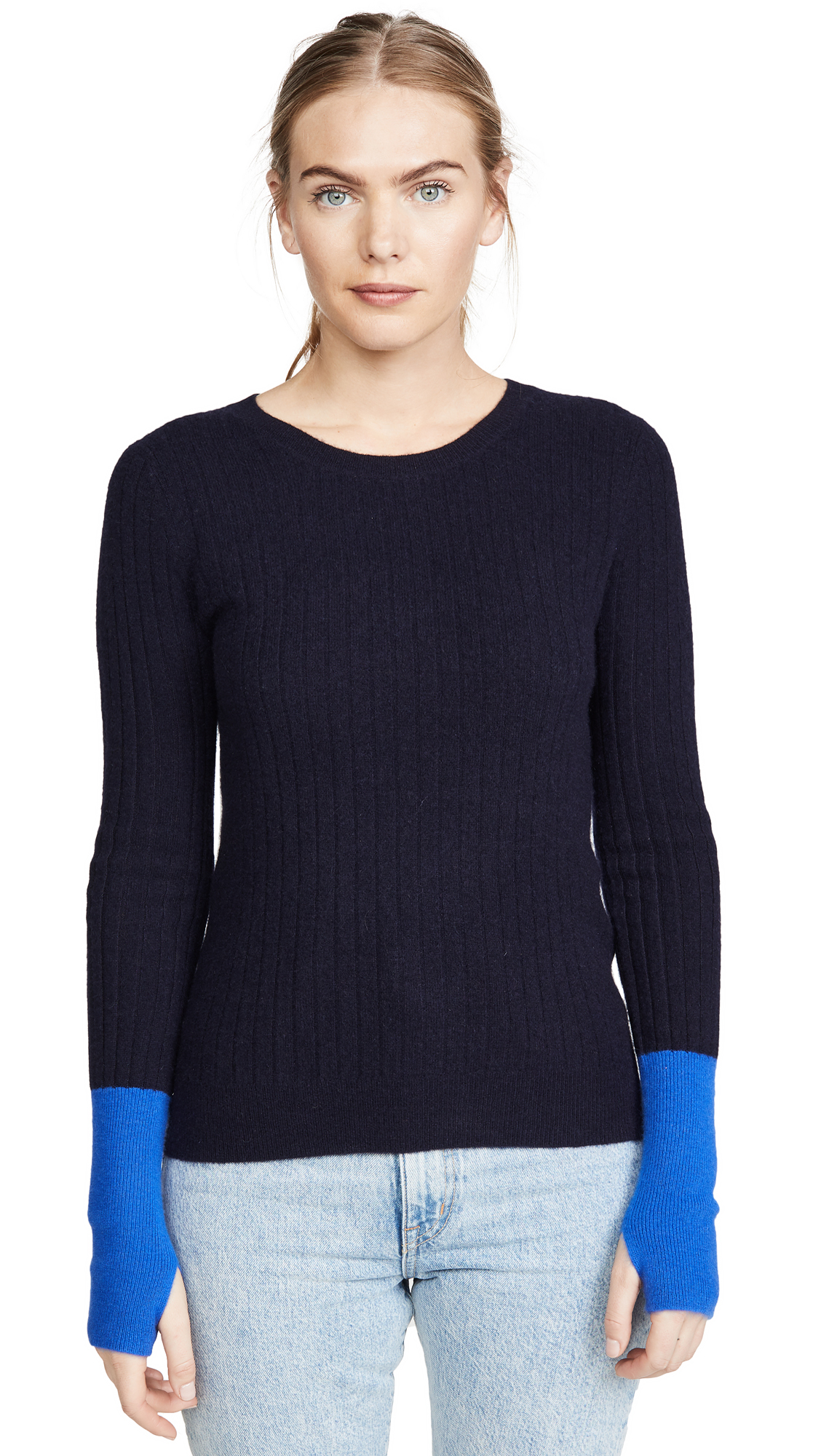 Buy Naadam online - photo of Naadam Colorblock Cashmere Sweater