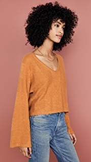 Naadam Cropped V Cashmere Sweater