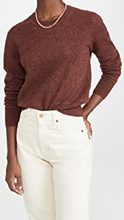 Naadam Cropped Cashmere Crew Sweater