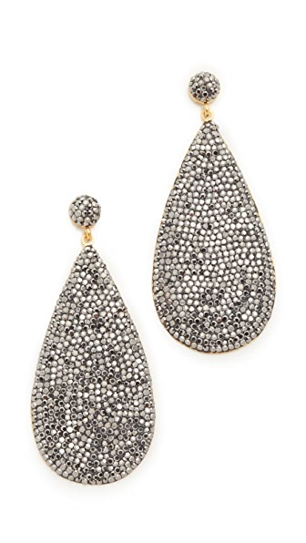 Native Gem Galaxies Teardrop Earrings - Gold/Black