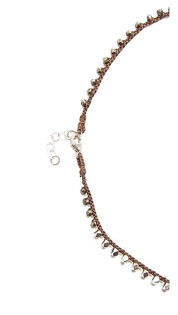 Native Gem Warrior Arrowhead Crochet Necklace