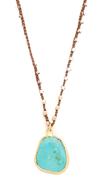 Native Gem Natural Turquoise Hand Crochet Necklace