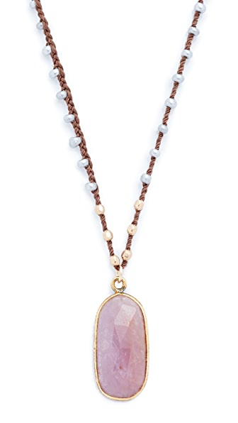 Native Gem Pink Sapphire Necklace