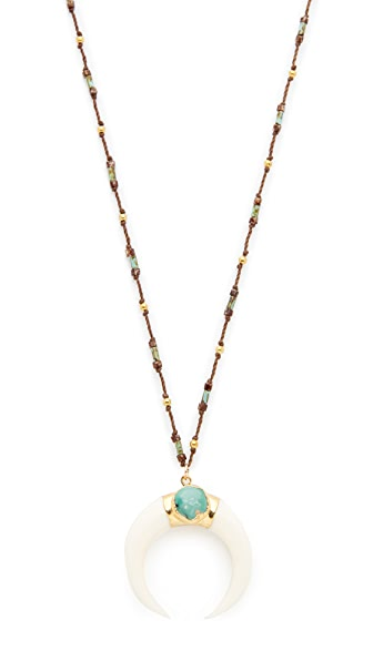 Native Gem Turquoise Crescent Necklace