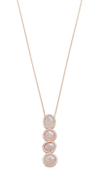 Native Gem Crystal Moonstone Revelation Necklace - Rose Gold/Moonstone