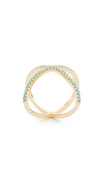 Native Gem Turquoise X Ring