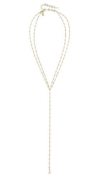 Native Gem Astor Necklace In Gold/Diamond