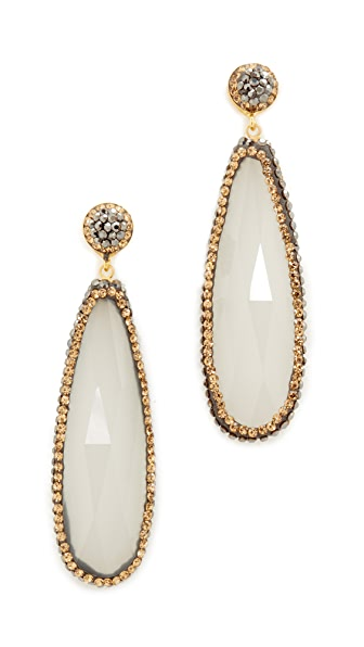 Native Gem White Quartz Everything Earrings - White Quartz/Yellow Gold
