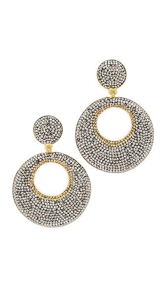 Native Gem Mod Earrings In Silver