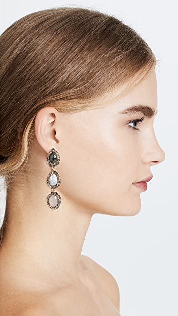 Native Gem Verona 3 Tier Earrings