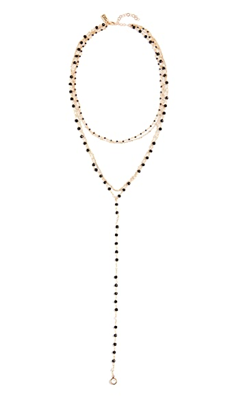 Native Gem Palmier Necklace with Cultured Freshwater Pearls In Midnight