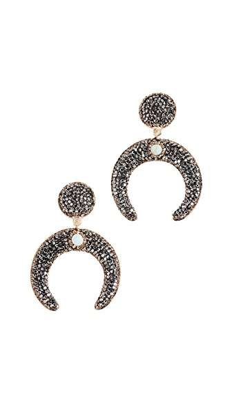 Native Gem Luna Earrings In Turquoise
