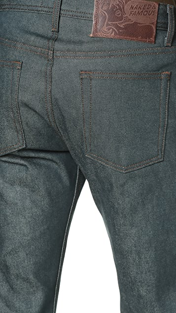 Naked & Famous Weird Guy Rusted Blue Selvedge Jeans