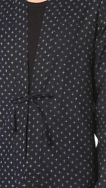 Naked & Famous Printed Kimono Shirt