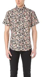 Naked & Famous Flower Print Short Sleeve Shirt