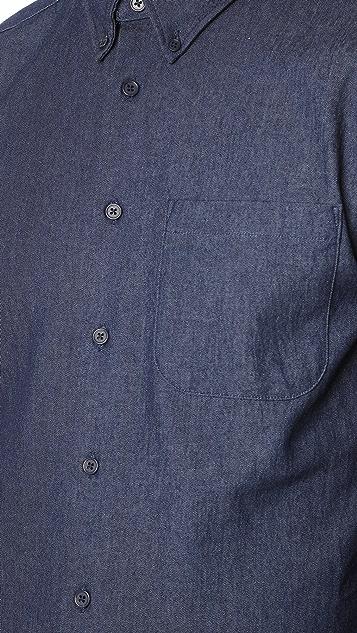 Naked & Famous 5.5 Oz Denim Long Sleeve Shirt