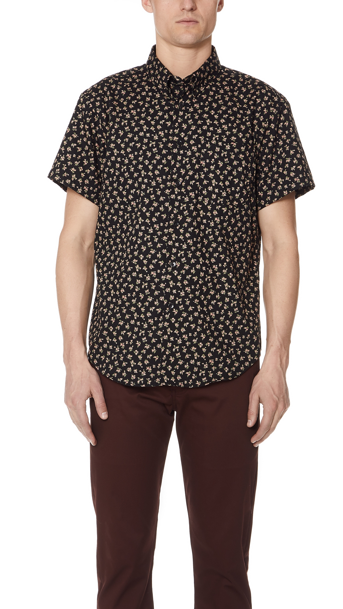 NAKED & FAMOUS VINTAGE FLOWERS SHIRT